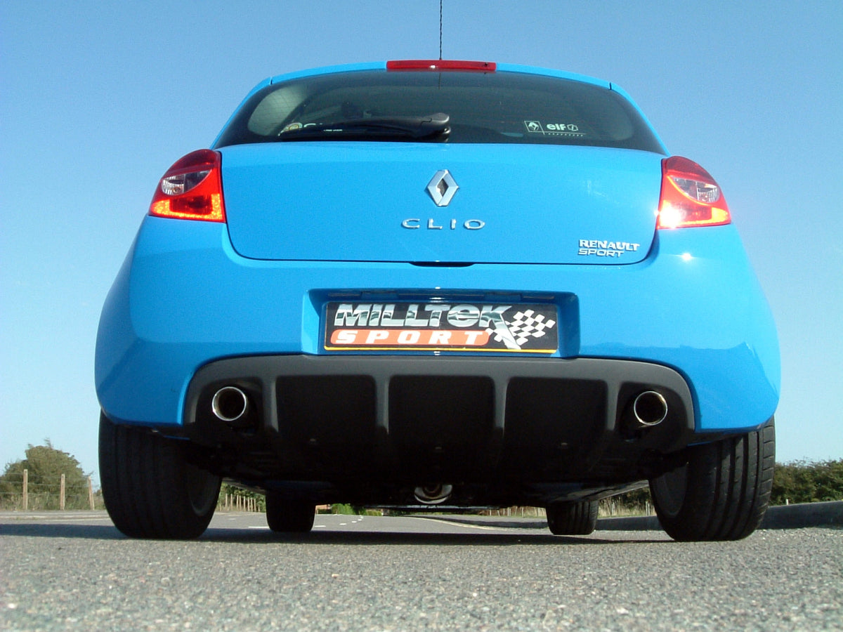 Milltek Exhaust Renault Clio 197 2.0 16v Non-Resonated Cat-back (SSXRN407)