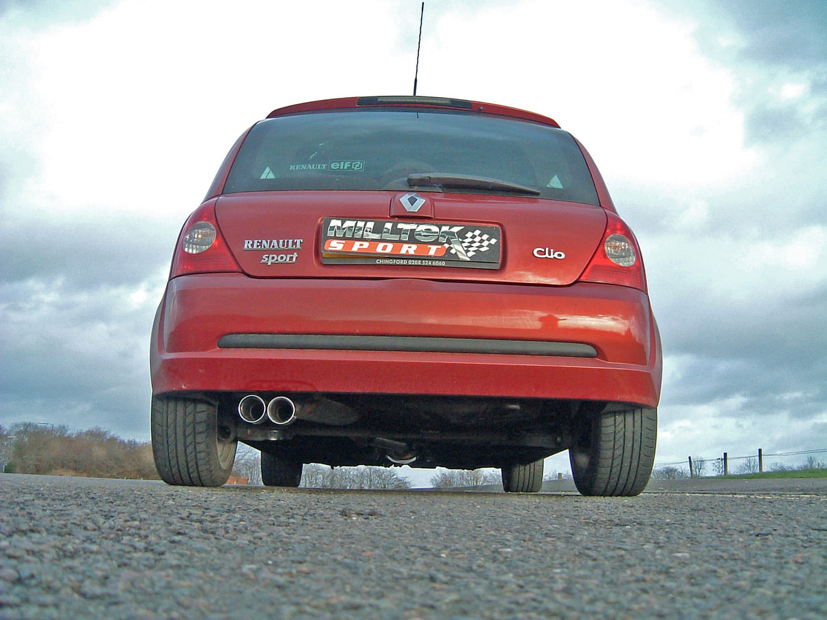 Milltek Exhaust Renault Clio 172 2.0 16v Full System (including Cat Replacement Pipe) with Twin 76 2mm Special tailpipe (SSXRN103)