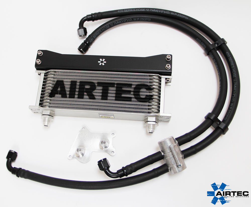 Airtec Mini R53 Cooper S oil cooler kit with optional thermostat