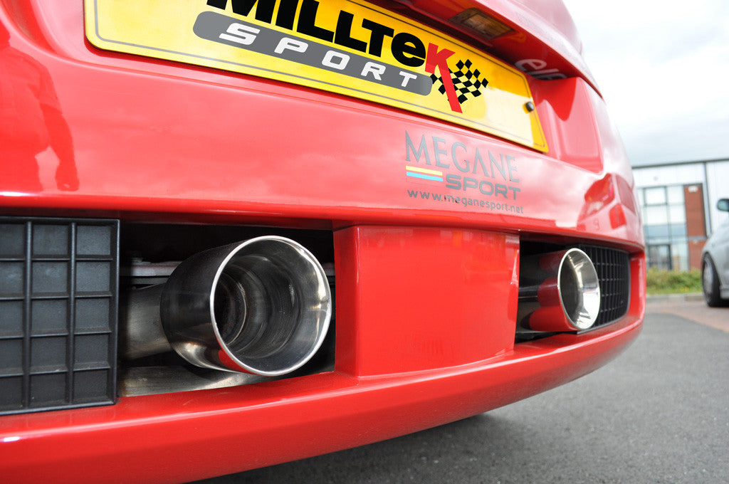 Milltek Exhaust Renault Mégane Renaultsport 225 2.0T Turbo-back including Hi-Flow Sports Cat with Dual GT80 LITE tailpipe (SSXRN403)