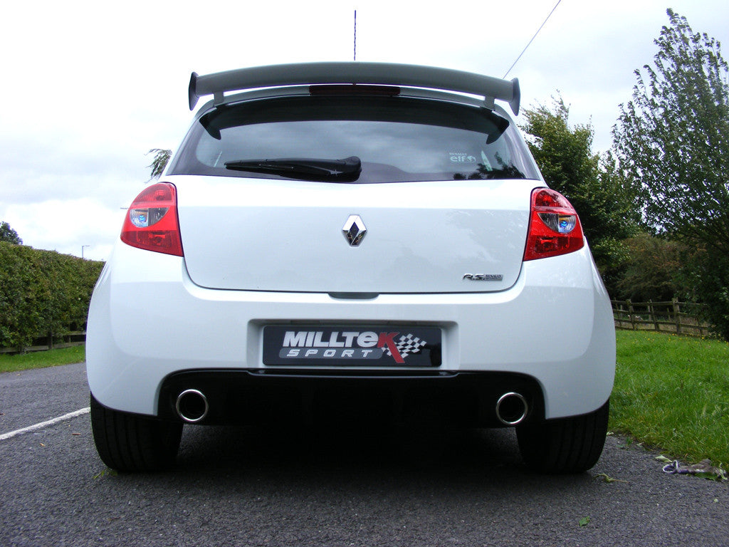 Milltek Exhaust Renault Clio 200 (inc. Cup) Non-Resonated Cat-back (SSXRN408)
