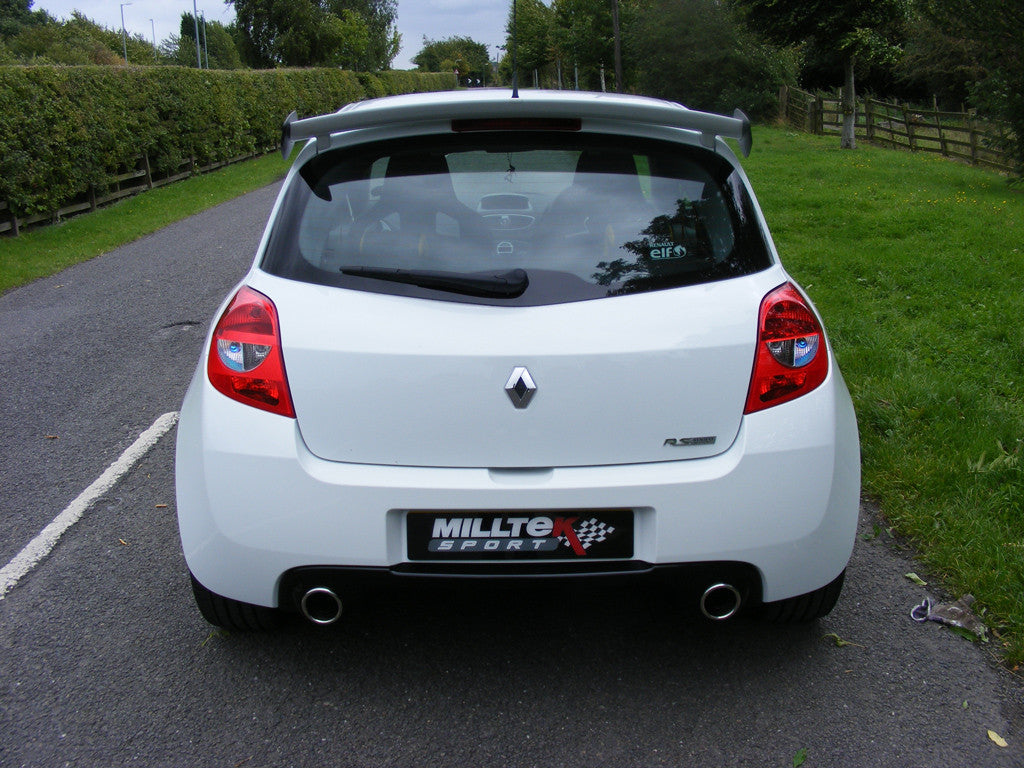 Milltek Exhaust Renault Clio 200 (inc. Cup) Resonated Cat-back (SSXRN306)