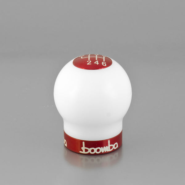 Boomba White ROUND 270 Weighted Shift Knob - V2