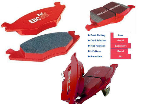 Focus Mk3 Zetec-S EBC Redstuff Rear Brake Pads