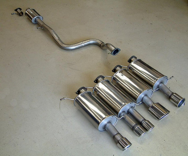 Fiesta ST180 mongoose cat-back exhaust - choice of 4 tailpipes