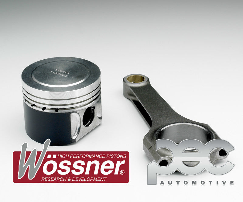 Audi Coupe S2 2.2 Turbo (5 Cylinder) Wossner Forged Pistons & PEC Steel Connecting Rod Kit