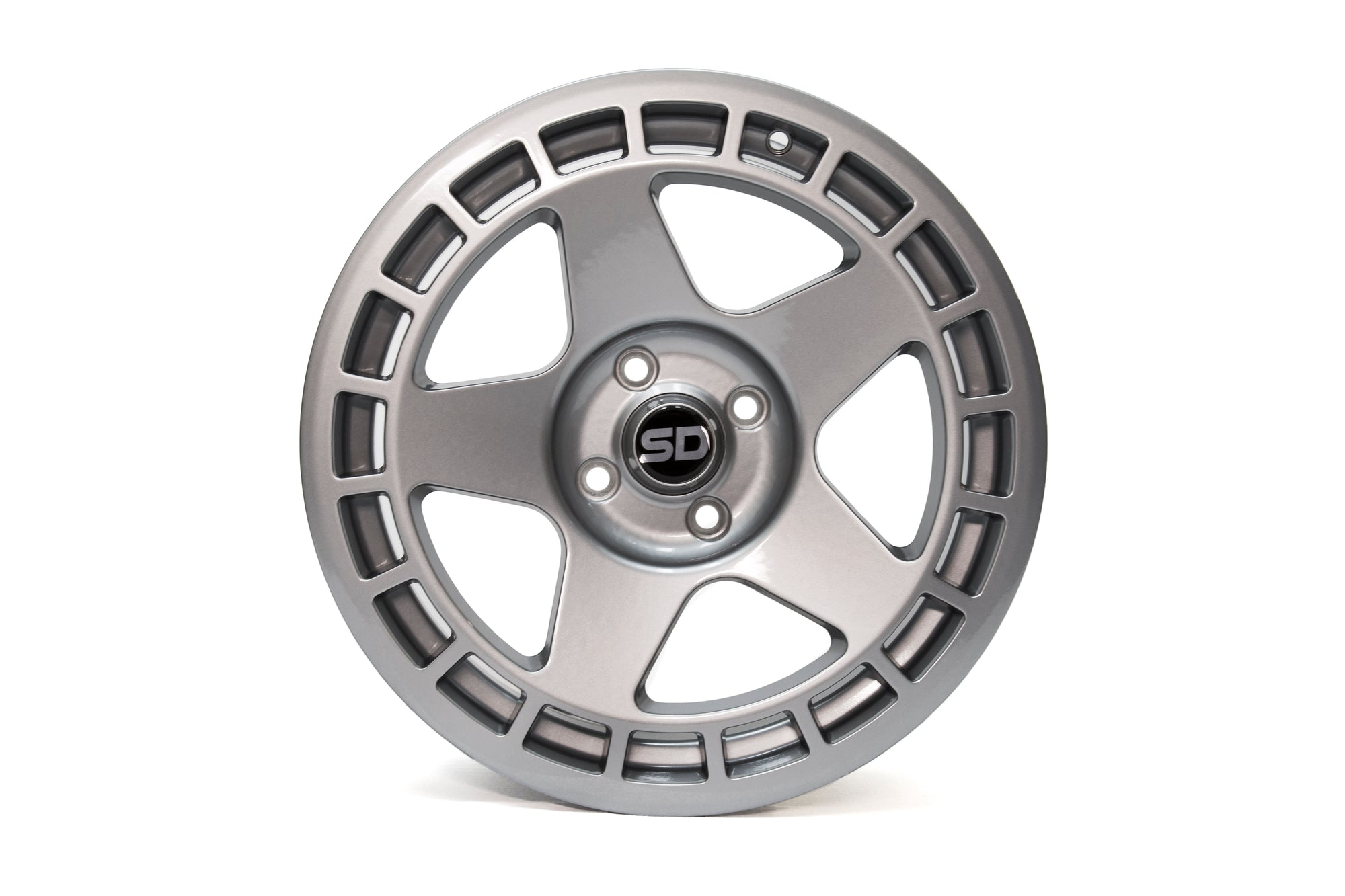 DNT 17*7.5 ET40 4x108 Gloss Gunmetal Grey wheels