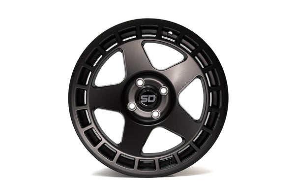 DNT 17*7.5 ET40 4x108 Matte Black wheels