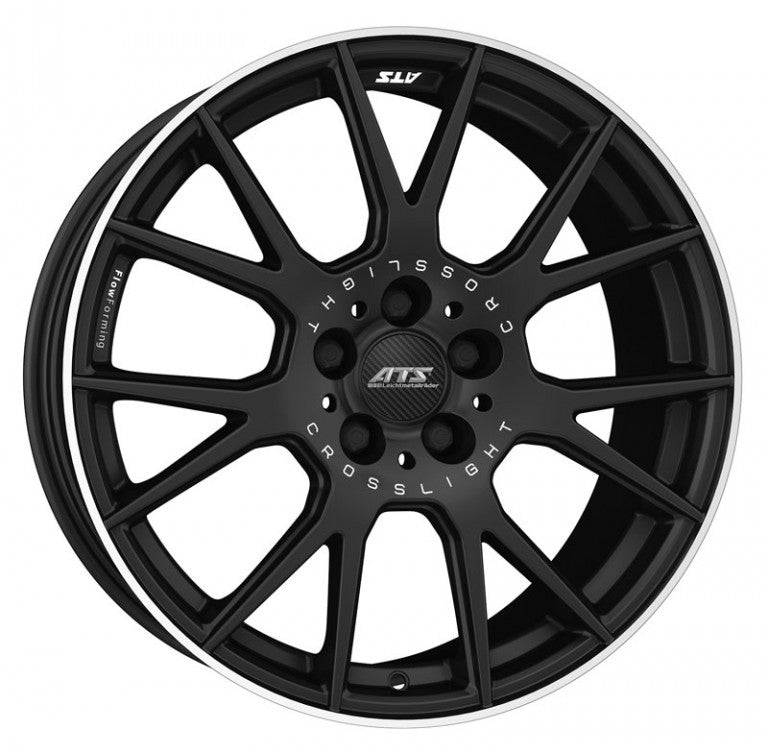 "ATS Crosslight 5x108 19x8.5"" ET49 in Gloss Black / Polished"