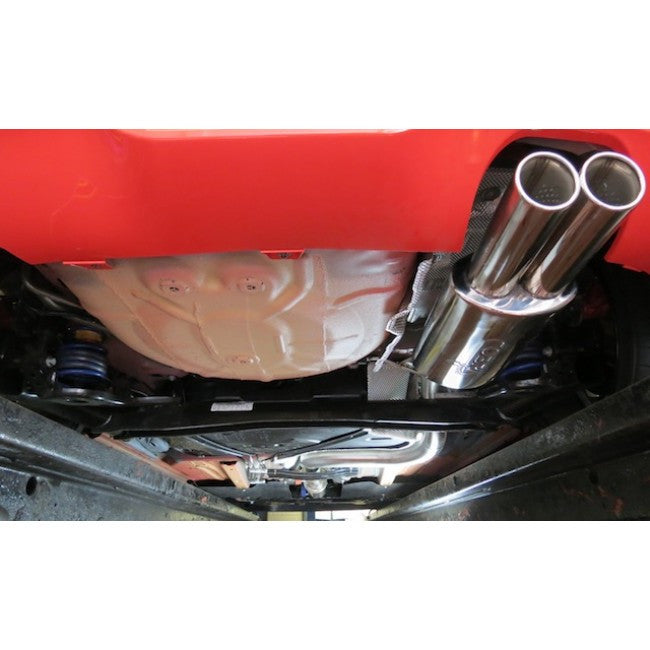 "Ford Fiesta ST180 Cat Back System - 2.5"" bore Non-Resonated - Twin Tailpipe"