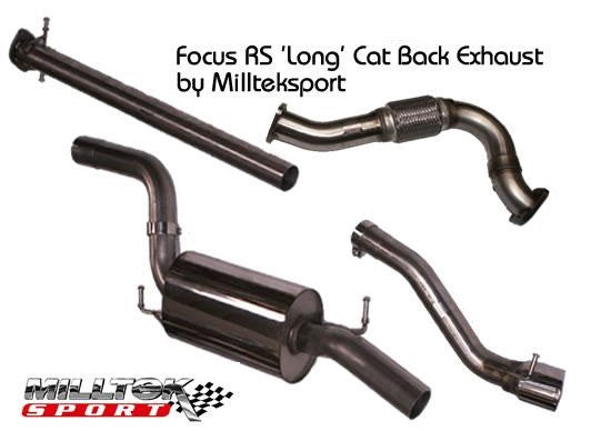 Focus RS mk1 Milltek Cat Back Long System - includes Flexi Pipe