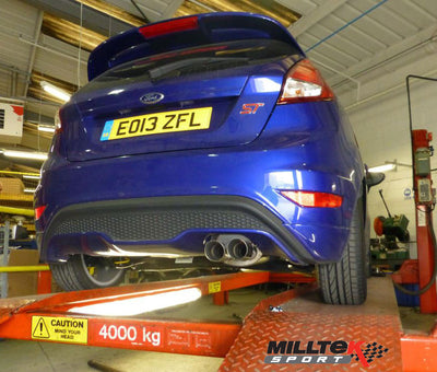 Fiesta ST180 Milltek non-resonated cat-back