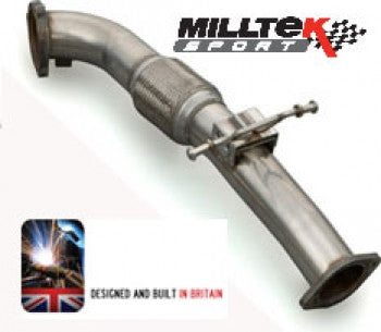 Focus RS Mk2 Milltek 3 inch (76mm) downpipe