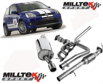 Fiesta ST150 Milltek Sport - Full Race system including 4-1 manifold, available with Decat or Sports Cat