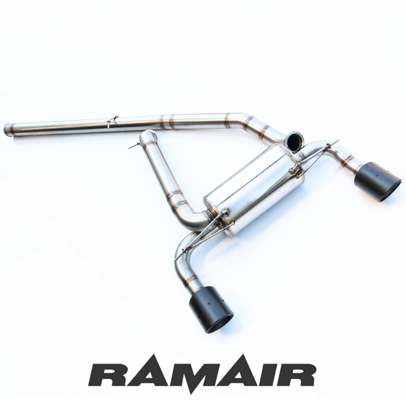 Ford Focus RS Mk3 Performance Stainless Steel Cat Back Exhaust System with Carbon Fibre Tails