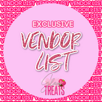 Glam Treats Vendor List