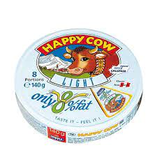 Happy cow 8  low portion cheese