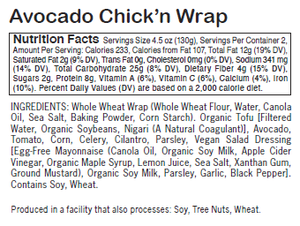 Avocado Chick'n Wrap - Sunneen Health Foods