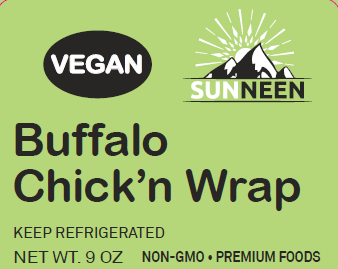 Buffalo Chick'n Wrap - Sunneen Health Foods