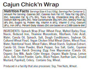 Load image into Gallery viewer, Cajun Chick'n Wrap - Sunneen Health Foods