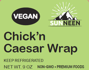 Load image into Gallery viewer, Chick'n Caesar Wrap - Sunneen Health Foods