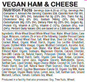 Vegan Ham & Cheese - Sunneen Health Foods