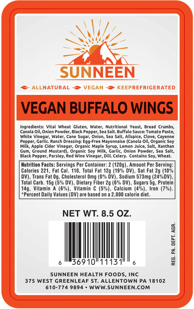 Load image into Gallery viewer, Vegan Buffalo Wings - Sunneen Health Foods