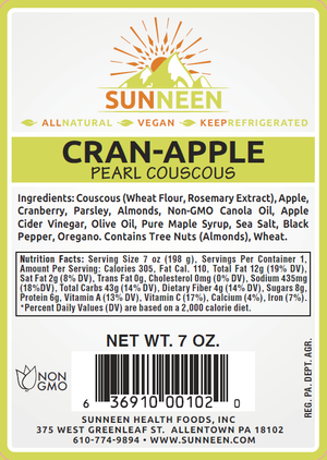 Cran-Apple Pearl Couscous - Sunneen Health Foods