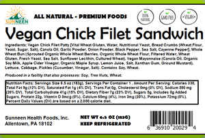 Vegan Chick Filet Sandwich - Sunneen Health Foods