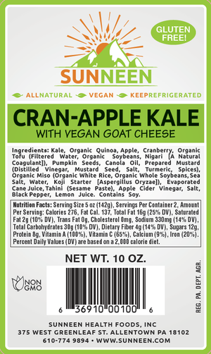 Cran-Apple Kale Salad - Sunneen Health Foods