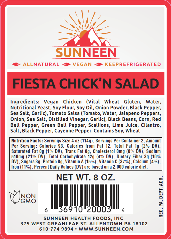 Load image into Gallery viewer, Fiesta Chick'n Salad - Sunneen Health Foods