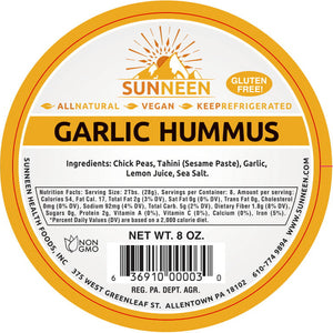 Garlic Hummus Dip - Sunneen Health Foods