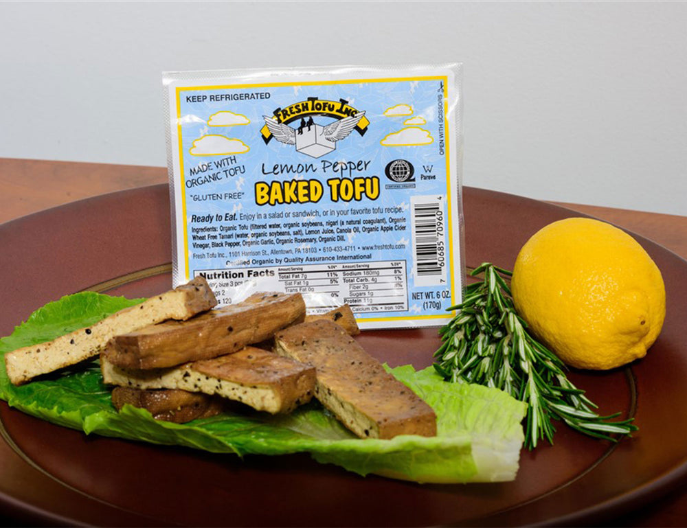 Lemon Pepper Baked Tofu