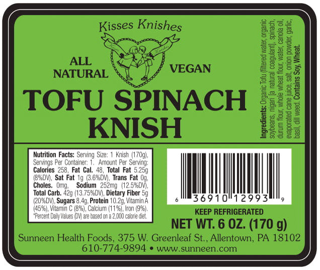 Tofu Spinach Knish