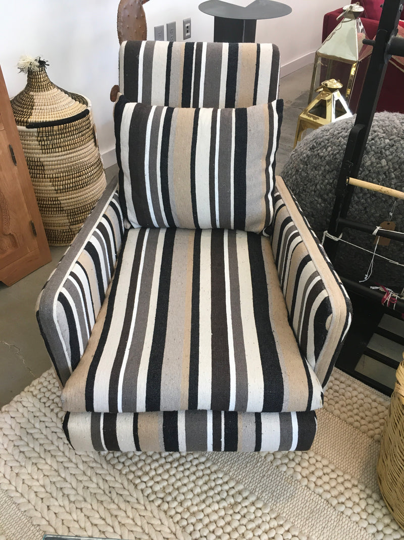 Chair - striped dark