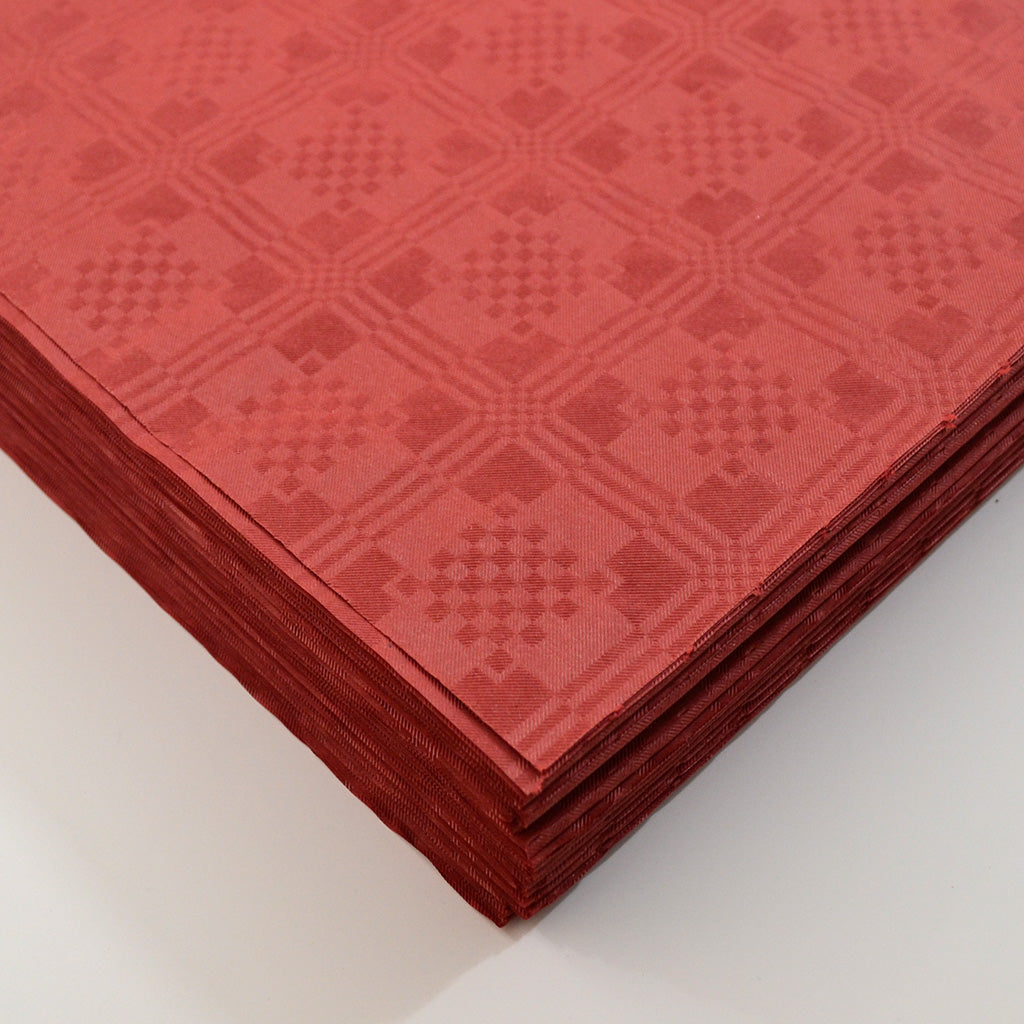 Burgundy Paper Table Cover x 25