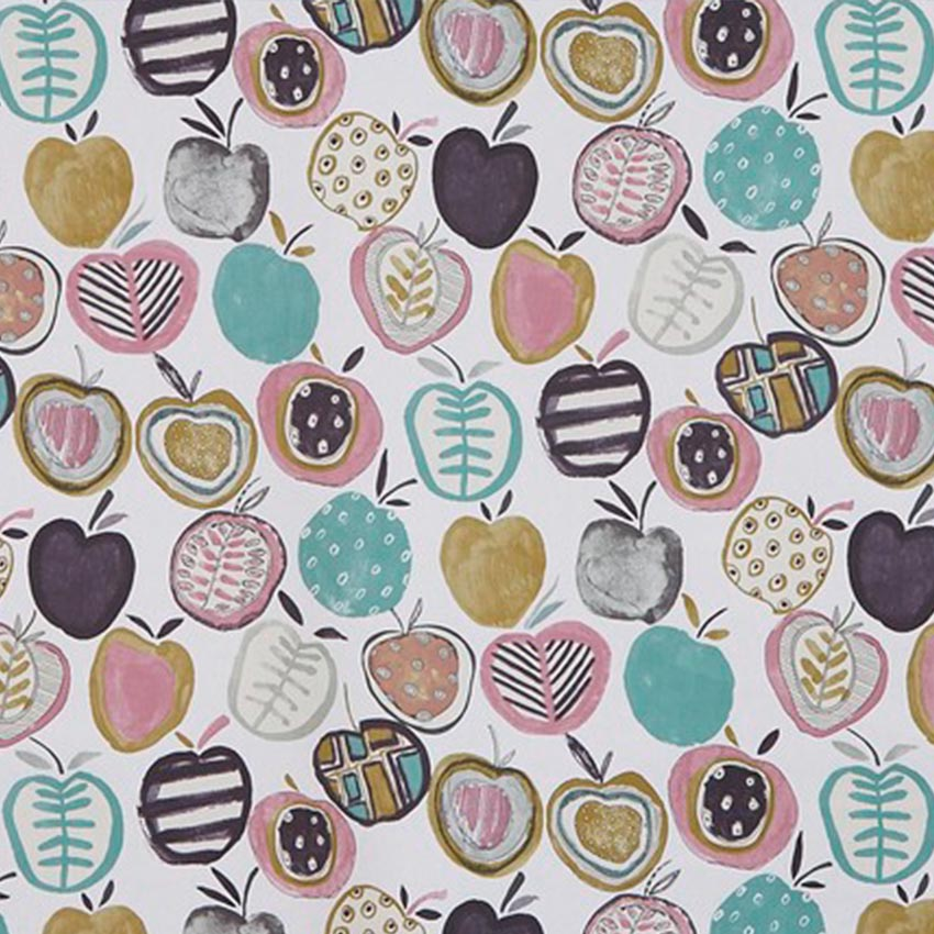 Apples Marshmallow Oilcloth