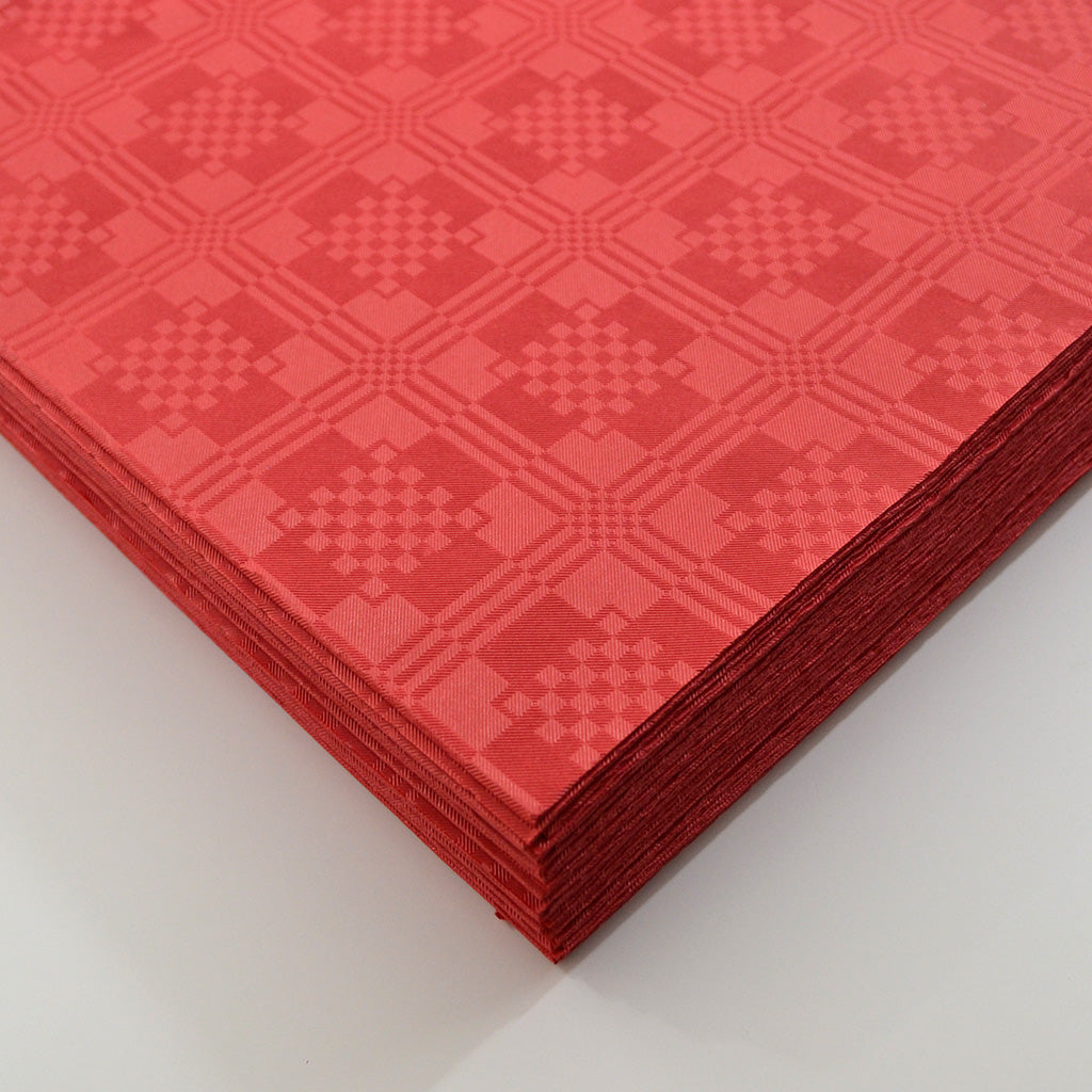 Red Paper Table Cover x 25