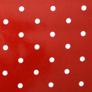 Red Polka Oilcloth