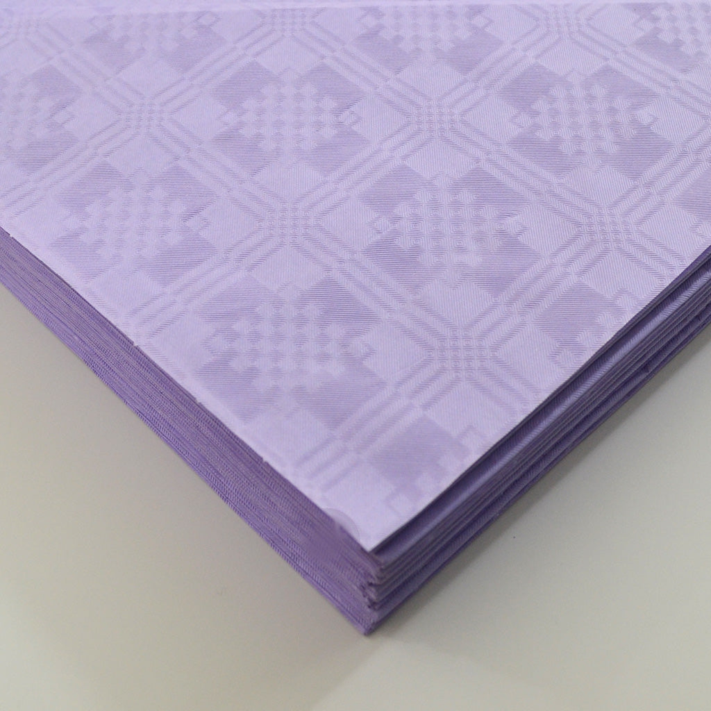 Lilac Paper Table Cover x 25