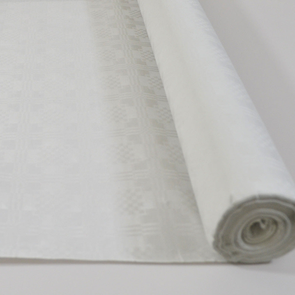 White 25m Paper Banquet Roll - White