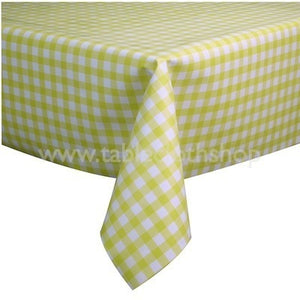 Yellow Gingham Vinyl