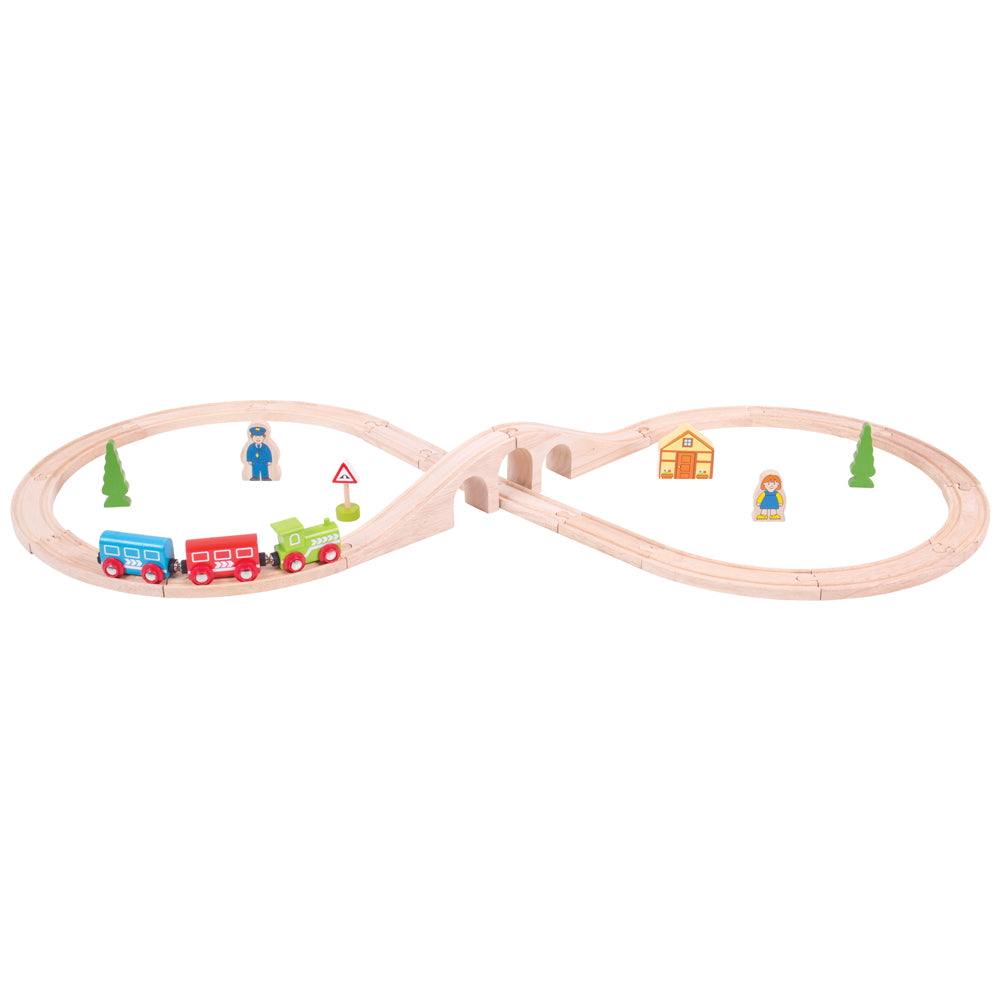 Bigjigs Rail Figure of Eight Train Set (colours may vary)