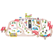 Load image into Gallery viewer, Bigjigs Rail Transport Train Set