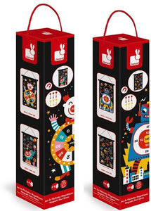Janod Magnetic  Dart Game - Circus or Robots