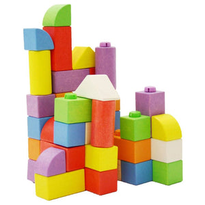 Colourful WOODEN CLICK BLOCKS (INTERMEDIATE PACK) - STACKING BLOCKS.
