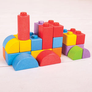 train shape from Colourful WOODEN CLICK BLOCKS (INTERMEDIATE PACK) - STACKING BLOCKS.