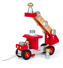 Load image into Gallery viewer, Janod Wooden DIY FIRE TRUCK  ladder