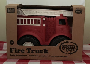 Green Toys Fire Truck Made in the USA from 100% recycled plastic.