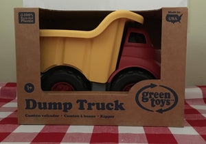 Green Toys Dump Truck Made in the USA from 100% recycled plastic.
